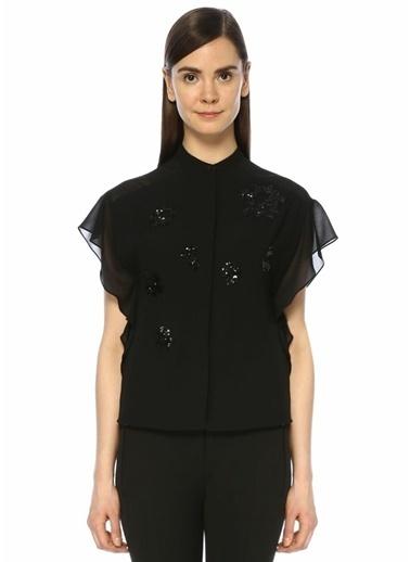 Beymen Club İşlemeli Şifon Detaylı Gömlek Siyah